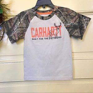NEW Carhartt tan Mossy Oak camo t-shirt 18M